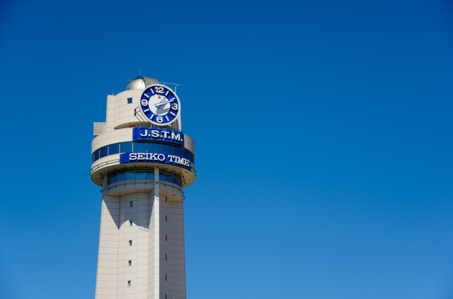 明石市立天文科学館の時計塔