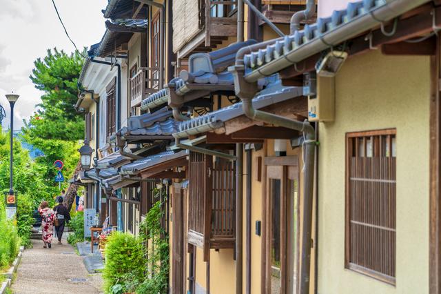 京都東山の街並み