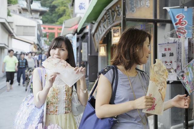 江ノ島で食べ歩き