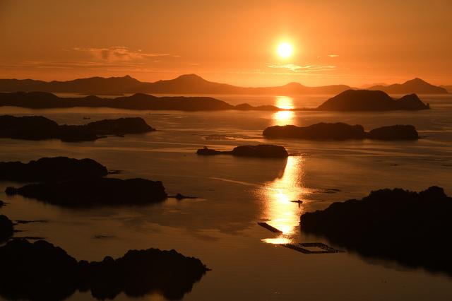 夕景の九十九島