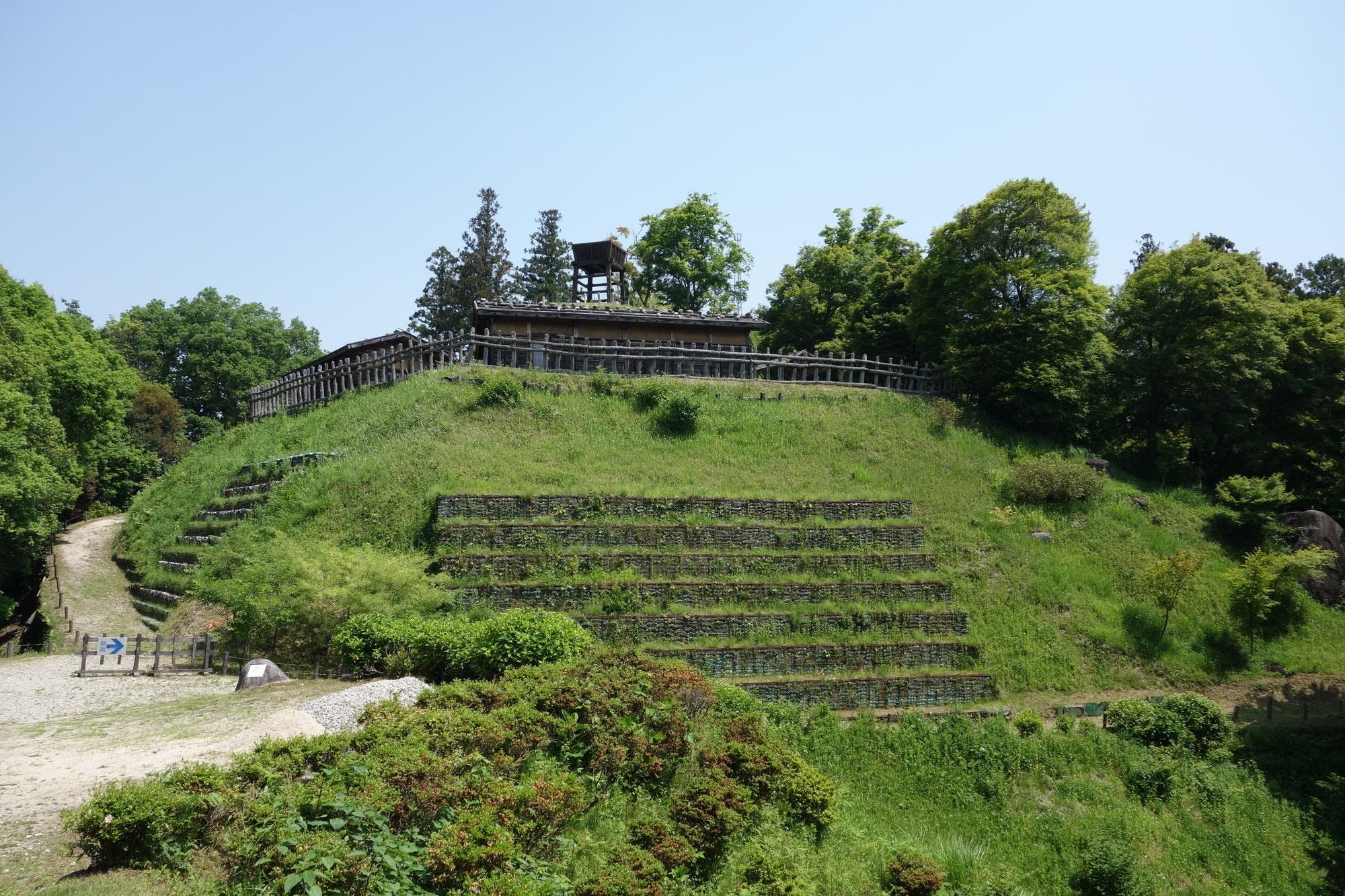 「足助城」という城跡公園