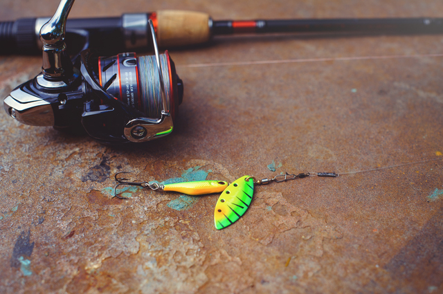 釣り竿やバケツ、餌