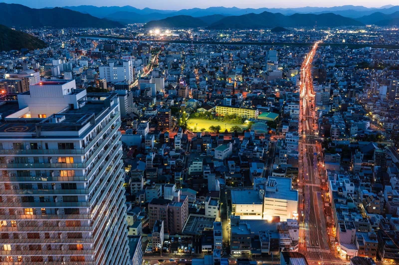 岐阜というと、大都会・名古屋のすぐ近く