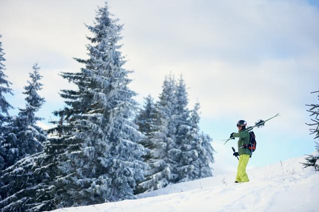 スキーを滑った