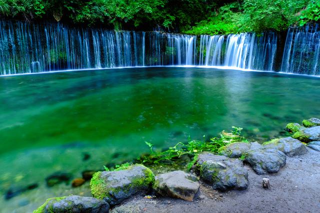 滝の横幅が70メートルほど
