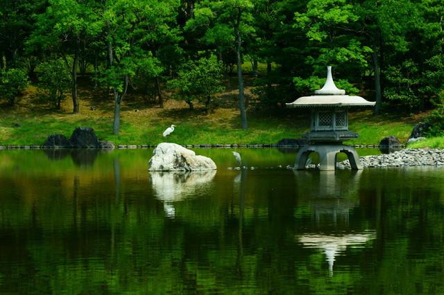 日本の造園家・田治六郎が設計した