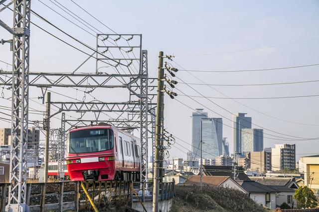 名古屋市内を走る電車