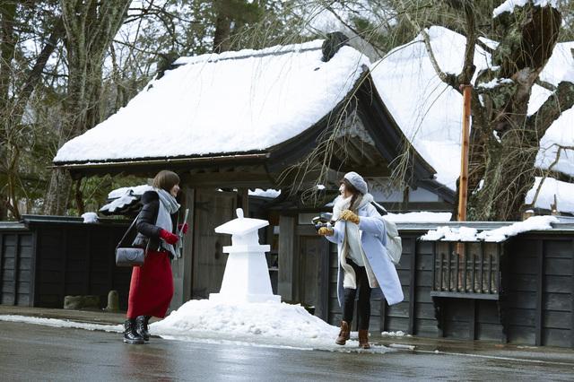 角館の雪景色
