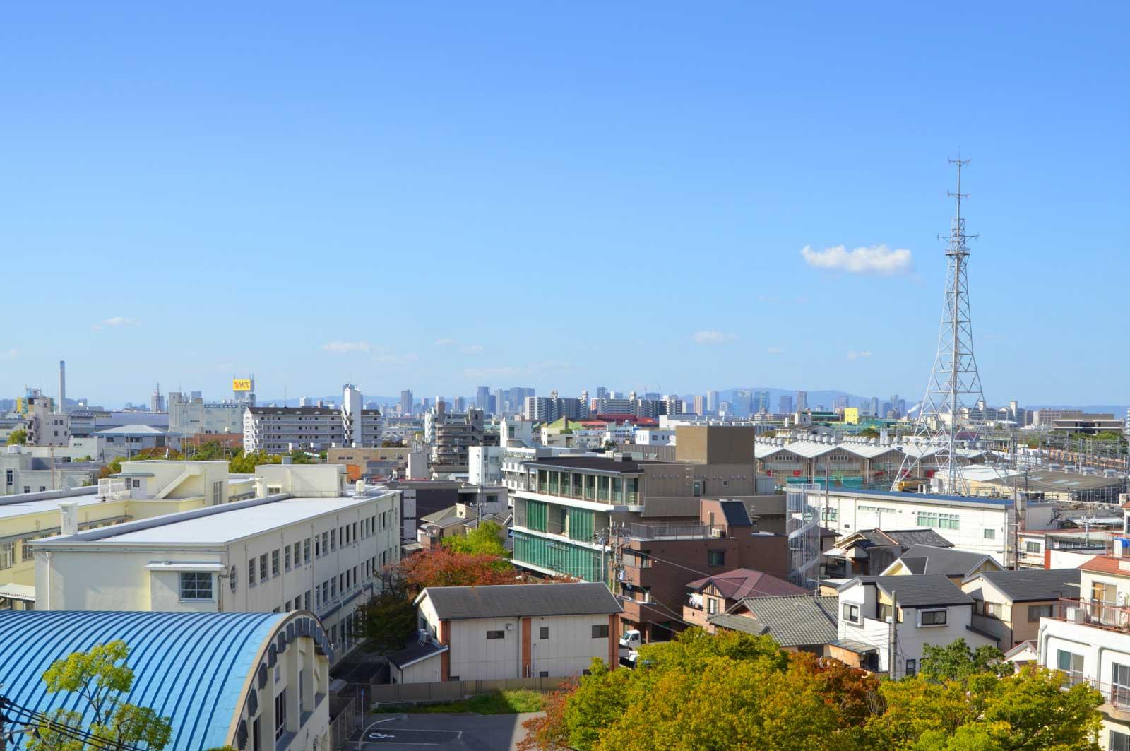 尼崎の街並み