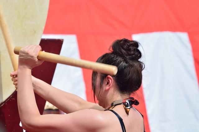和太鼓教室へ通っているのは意外に男性よりも女性のほうが多い