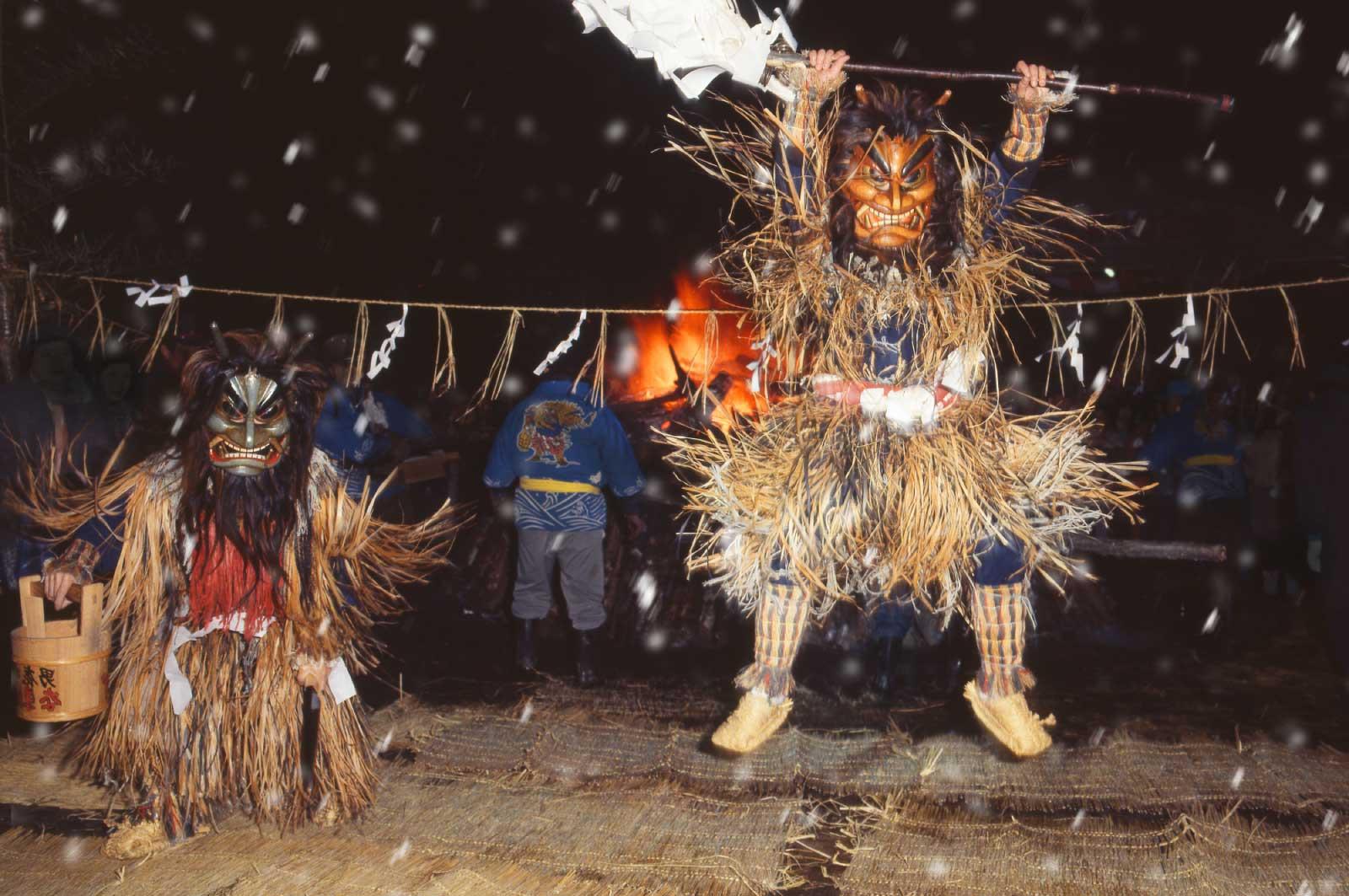冬でも同様に、イベント(祭り)が開催されている