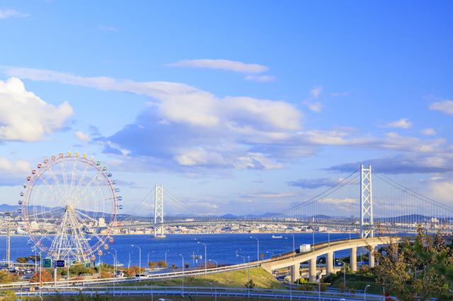 兵庫の明石海峡大橋