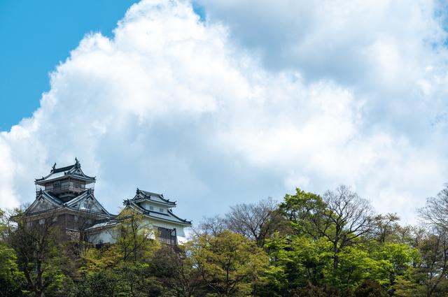 山の上に建つ竹田城