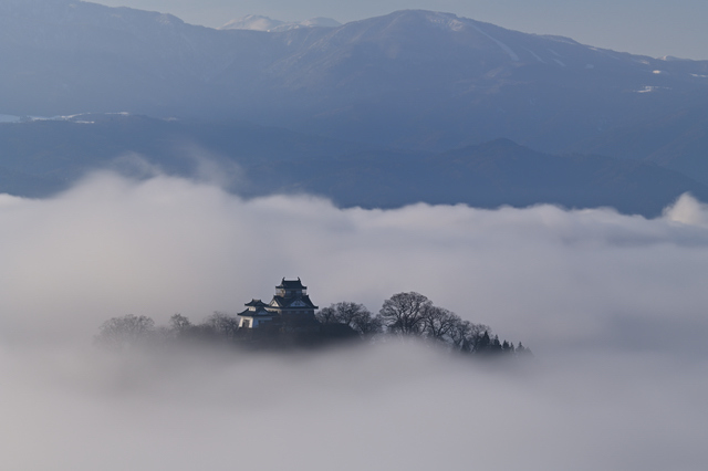 越前大野城と雲海