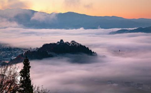 雲海を撮影