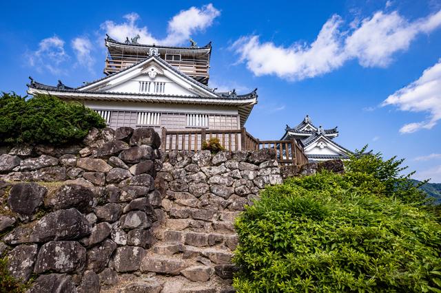 越前大野城の石垣