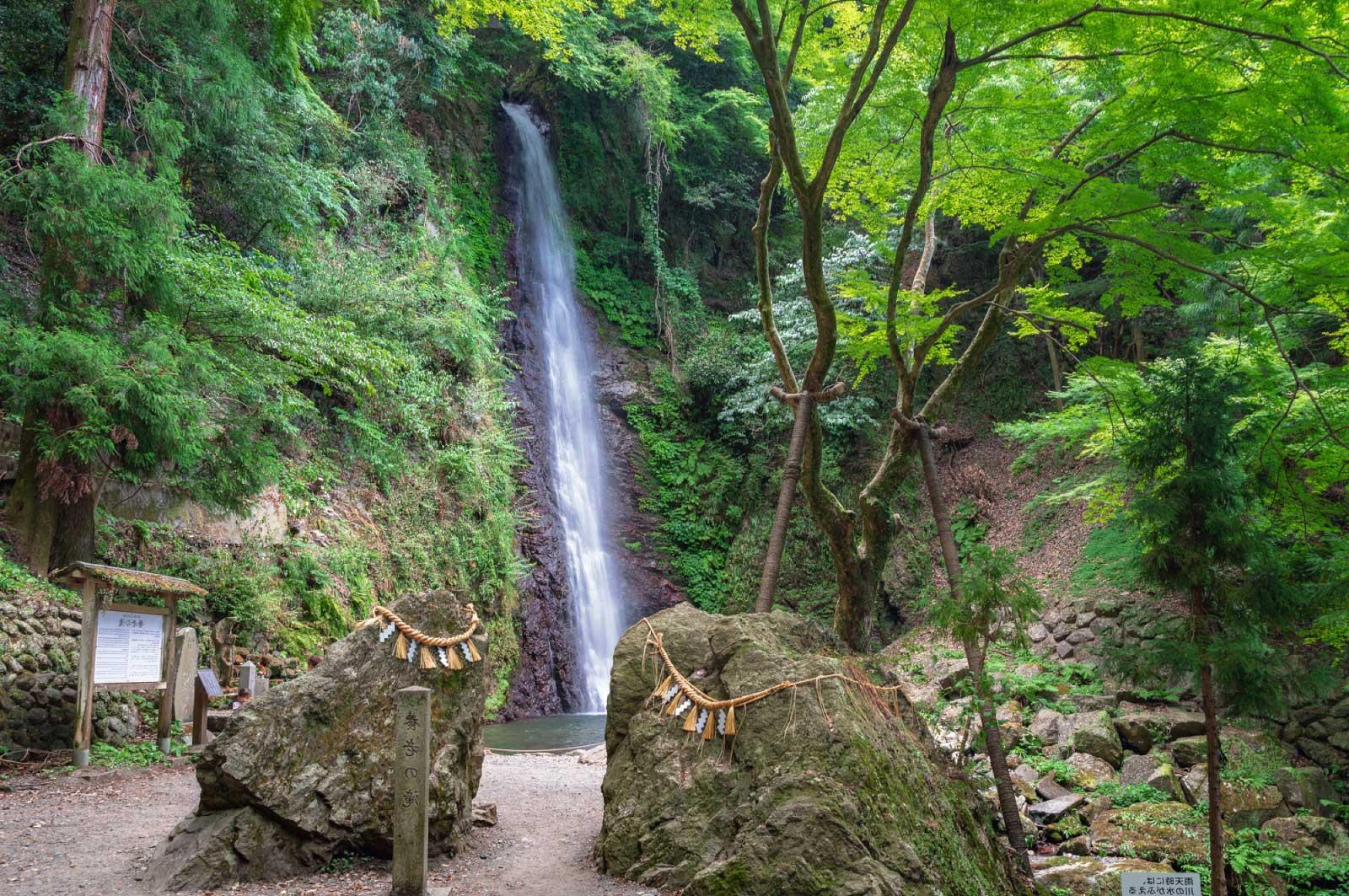 「養老の滝」は岐阜県養老郡養老町にある滝