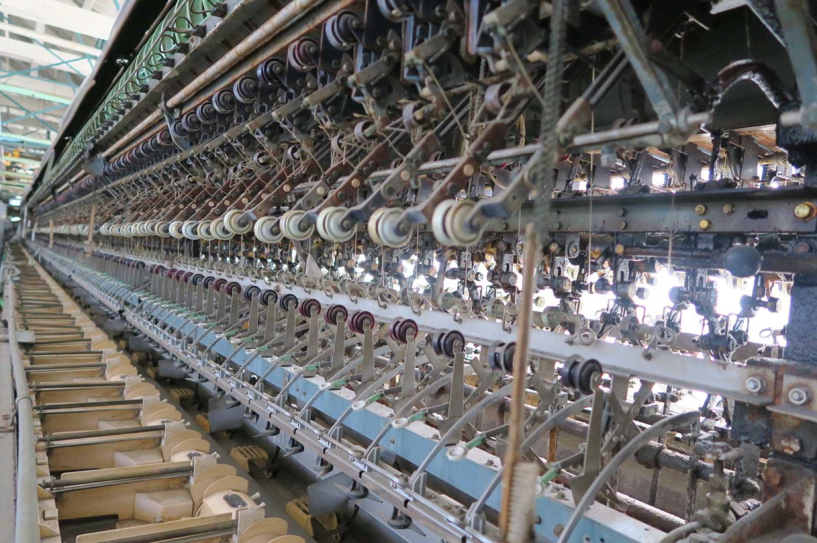 紡績の機械