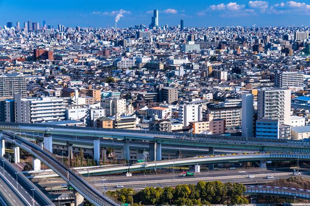 東大阪ジャンクション付近