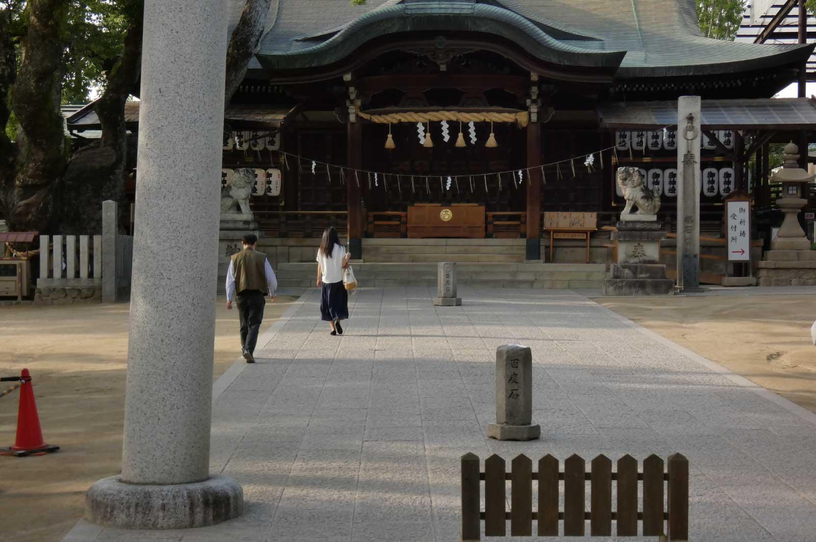 百度参りで有名な石切劔箭神社(東大阪)