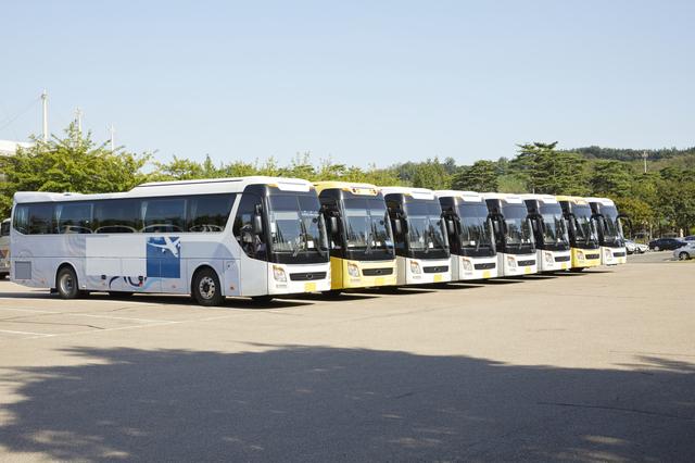 地元の観光バス