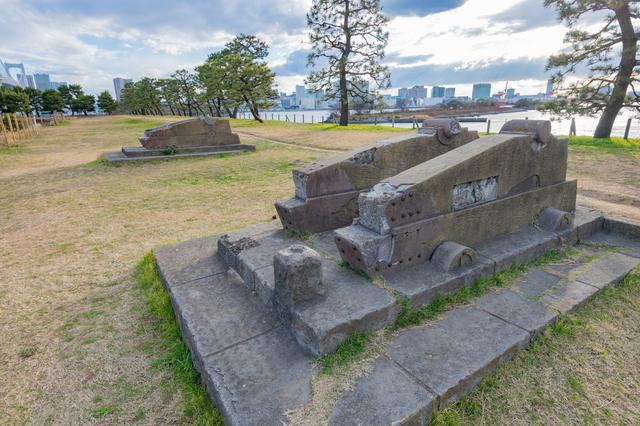 台場公園の砲台跡