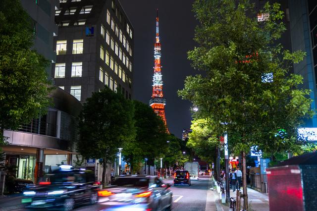 浜松町駅前の夜景