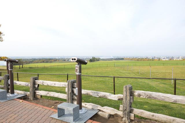 北海道にある「さっぽろ羊ヶ丘展望台」双眼鏡