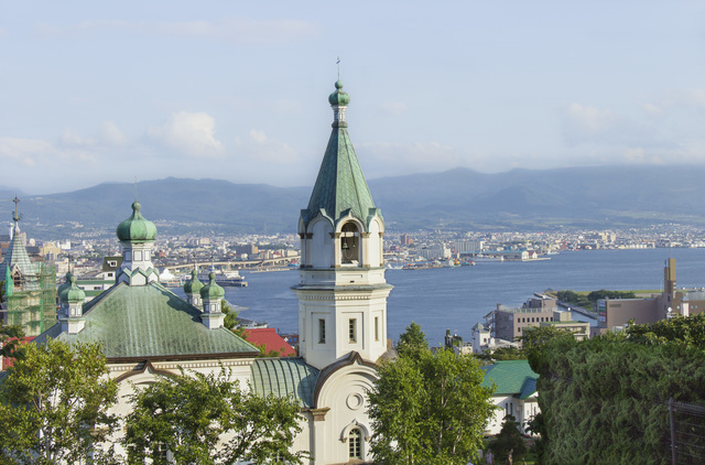 函館ハリストス正教会と函館の街