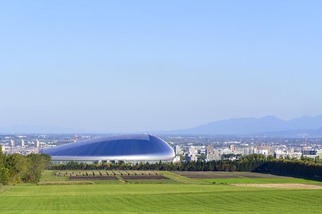 札幌ドームとさっぽろ羊ヶ丘展望台(北海道)