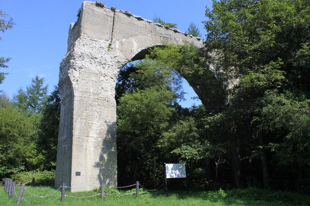 越川橋梁は有形文化財にも指定されている