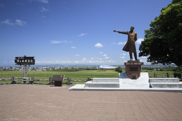 クラーク博士と札幌ドーム(北海道)