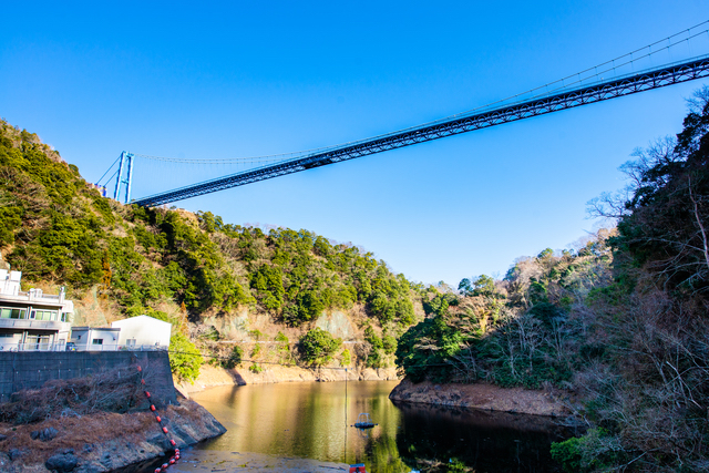 竜神峡(茨城)に架かる橋