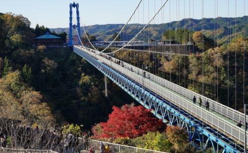 紅葉の竜神大吊橋