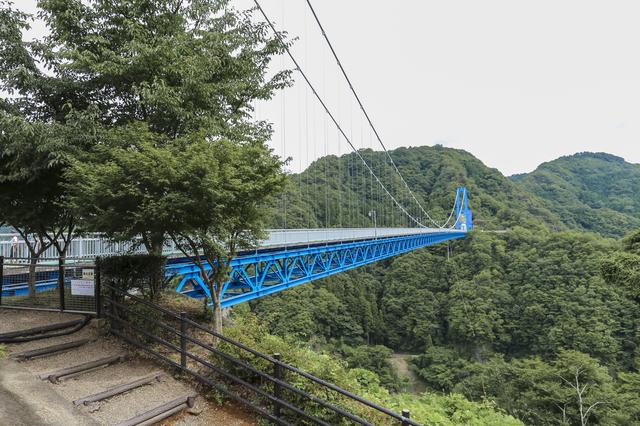 夏の竜神大吊橋