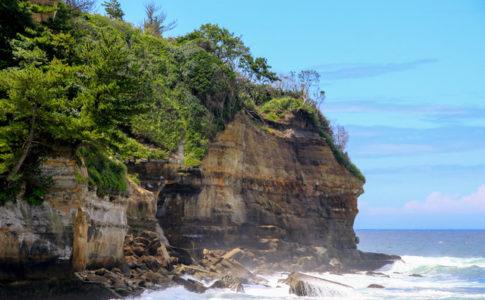 五浦海岸の崖