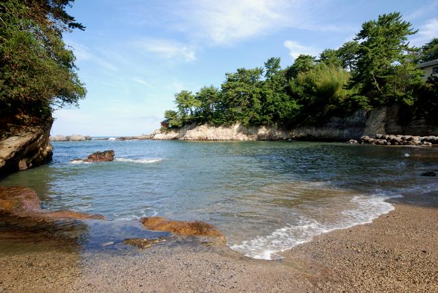 五浦海岸の浜辺