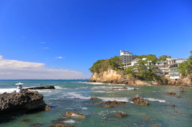 歴史の残る五浦海岸