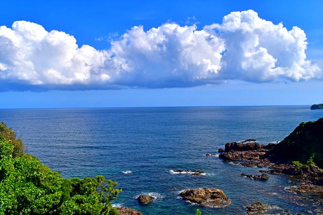 珠洲岬に流れる大気