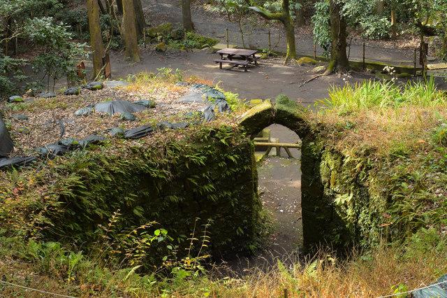 上から見た寺山炭窯跡