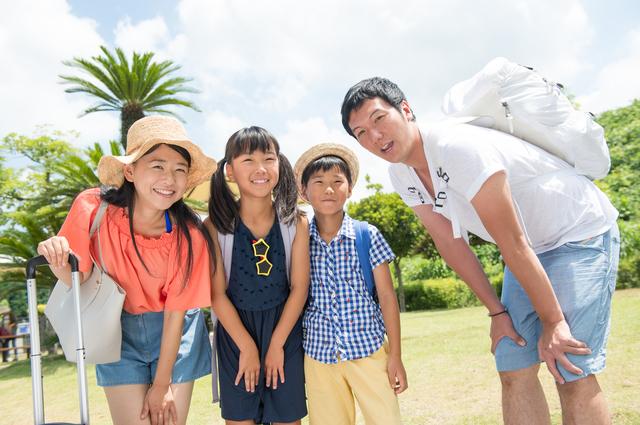 夏休みの家族旅行