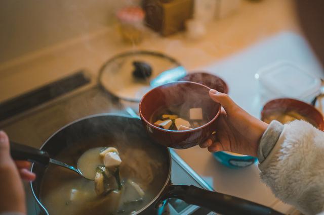 母の作る味噌汁