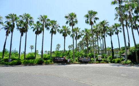 長崎鼻パーキングガーデン(鹿児島)の入り口