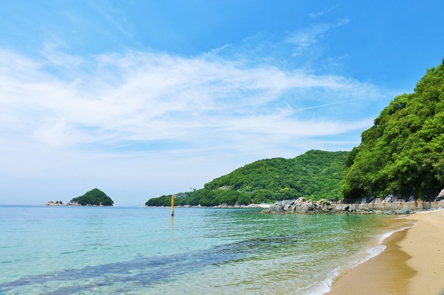 瀬戸内海に浮かぶ小豆島