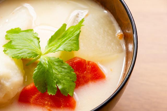 白味噌を使った味噌汁