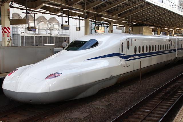 東京へ向かう新幹線