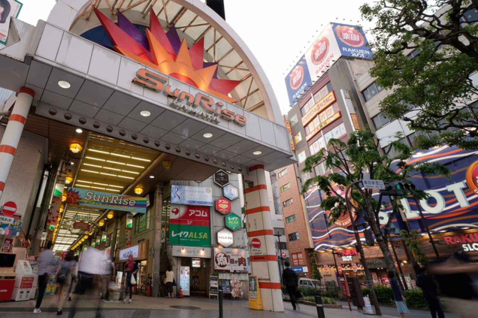 蒲田駅西口のサンライズ