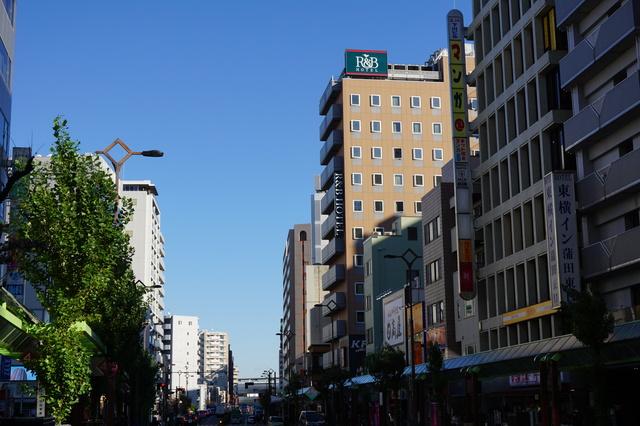 多摩堤通り・蒲田駅東口前