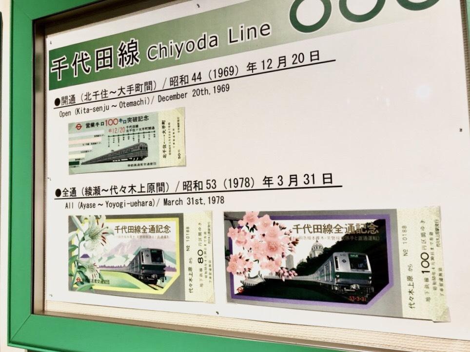 千代田線・開通記念切符