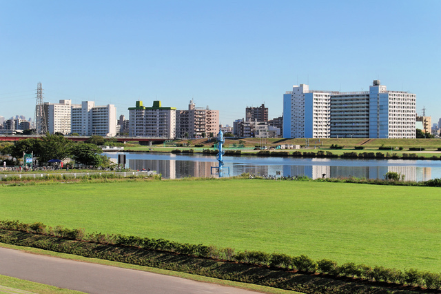 西新井橋近く